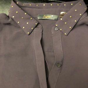 Dex - Purple Blouse, Long Sleeve, buttonup